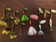 Vintage Mepps Spinner Fishing Lures Lot Of 10 Plus Ultralight Panfish/trout Kit