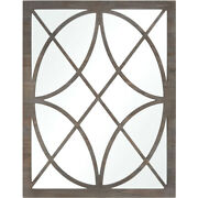 Bowery + Grove 50319-gs Harmony 36 X 28 Inch Grey Stained Fir Wall Mirror