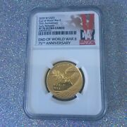 2020 End Of World War Ii 75th Anniversary 24k Gold 25 Coin Pf 70 Early Release