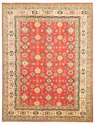 Vintage Hand-knotted Carpet 9and0399 X 12and0399 Traditional Oriental Wool Area Rug