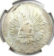 1854-c Ce Mexico 8 Reales Coin 8r Sonora Cap - Ngc Uncirculated Detail Unc Ms