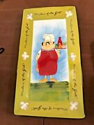 New Tracy Flickinger 10x18 Serving Tray Masters Of The Grill Barbecue Chefs