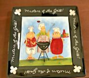 New Tracy Flickinger 13x13 Serving Tray Masters Of The Grill Barbecue Chefs