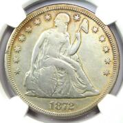1872-s Seated Liberty Silver Dollar 1 Coin - Ngc Vf Details - Rare S Mint
