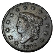 1823 Large Cent Choice Xf Free Shipping R999