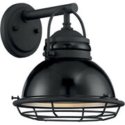 Nuvo Lighting 60/7061 Upton Outdoor Wall Light Gloss Black And Silver