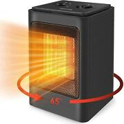 Space Heater, 1500w Portable Electric With Tip-over And Overheat Protection