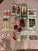 Vintage Lot Of Christmas Items Lanterns Tree Toppers Ornaments Candle Lights