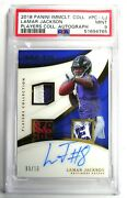 2018 Panini Immaculate Lamar Jackson Players Collection Gold Auto Patch Rc Psa 9
