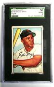 1952 Bowman Willie Mays 218 Baseball Giants Card - Certified Sgc 50 4