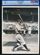 Lou Gehrig 1930s Swinging 8x10 News Photo By Cosmo-sileo Psa/dna Type 1 Encap.