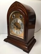 Antique Seth Thomas 70 Westminster Chime Walnut Beehive Clock