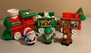 Fisher Price Little People - Musical Christmas Train With Santa, Elf And Reindeer