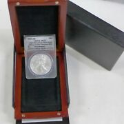 2011-s American Silver Eagle Ms70 Anacs 25th Anniversary First Release
