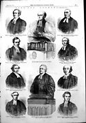 Antique Old Print Fast Day Sermons Lord Bishop London Rev H Mackenzie 1854 19th