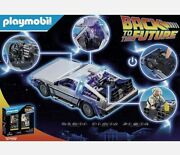 Playmobil Back To The Future Delorean Playset - 70317 Rare - Discontinued