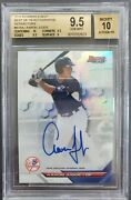 2016 Bowmanand039 Best Best Of And03916 Auto Refractor Aaron Judge Bgs 9.5 Auto 10