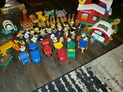 Vintage Fisher Price Little People Animal Sounds Farm 1999🔥 {90pc Lot}