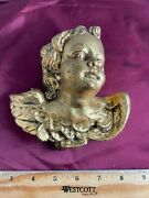 Rare Vintage Reuge German Wall Angel Brahm's Lullaby Wall Picture Music Box