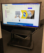 Interactive 70 4k Windows/android Touch Screen Tv Mobile Stand Smart Board