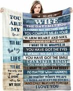 To My Wife I Love You From Husband Romantic Anniversary Sherpa Blankets Gift