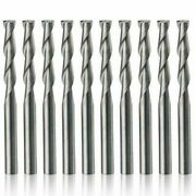 Cnc Router Bits Flat Nose Spiral End Mill 2-flutes Carbide For 3d Carving New