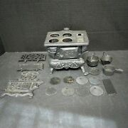 Crescent Cast Iron Wood Stove Salesman Sample With Accessories
