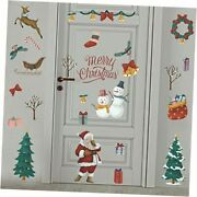 Merry Wall Decals Santa Claus Gift Tree Wall Stickers Diy Removable Christmas