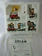 Danbury Mint Peanuts Christmas Train, Boxed Snoopy, Lucy And The Gang Ex