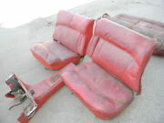 Orig. Jaguar Mk 10 X Interior Seats Console Seating Red Leather 1961 1962 1963