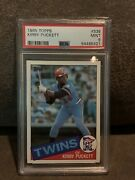 1985 Topps Kirby Puckett 536 Rc / Psa 9 - Centered New Case Twins