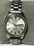 Seiko 5 Sportsmatic Deluxe Automatic 7619-9040 Day/date Men's Watch Wl39737