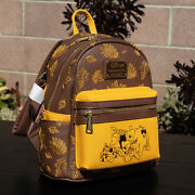 Loungefly Disney Winnie The Pooh Autumn Mini Backpack New With Tags