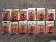 Metal Cowboys And Indians Complete Set Of 12 Metallions Figures Toy Soldiers