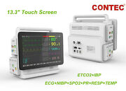 Plug-in Co2 Capnograph Patient Monitor Multi-parameter Vital Signs Touch 13.3