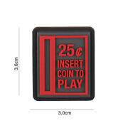 Insert Coin To Play Red / Patch 3d Pvc