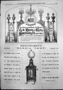 Old Adverts Smethurst's Lamps Chandeliers For Hire Borgia Wax Oil 1877 19th