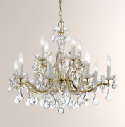 Horchow Maria Made With Crystal Restoration Rococo French Chandelier