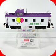 N Scale Happy Birthday 36and039 Cupola Caboose Car And Confetti - Micro Trains 10000270