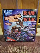 Wwf Wwe Wrestling Raw Is War Monster 19 Inch Ring New In Box