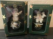 Dept 56 Snowbabies 12 Days Of Christmas Ornaments Numbers 1 And 2 Of 12
