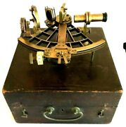 Antique, C. Plath, Hamburg Nautical Sextant W/ Carrying Case. Certified In1926.