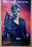 Sylvester Stallone Cobra Hand Signed Poster Authentic Signing 81x53 Cm Coa