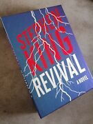 Stephen King Revival Hand Signed Book Us Luxe First Edition