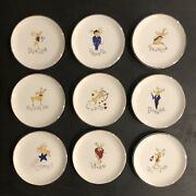 Pottery Barn Reindeer Coasters New In Box 9pc.