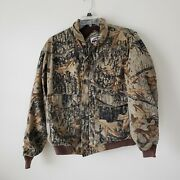Menand039s Vtg Winchester Xpert Sniper Hunting Jacket Realtree Camouflage Camo Xl