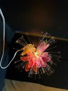 Vintage Fiber Optic Flower Lamp Preowned 1980s 80s Fibre Made In Taiwan