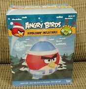 🐤 Angry Birds Christmas Airblown Inflatable 3 Feet Gemmy Discontinued New