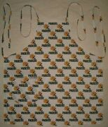 Barbeque Apron Made With Green Bay Packers Nfl Football Cotton Fabric Bbq Grill
