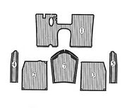 Lancia Appia 2nd 3rd Series Rubber Mat Set New